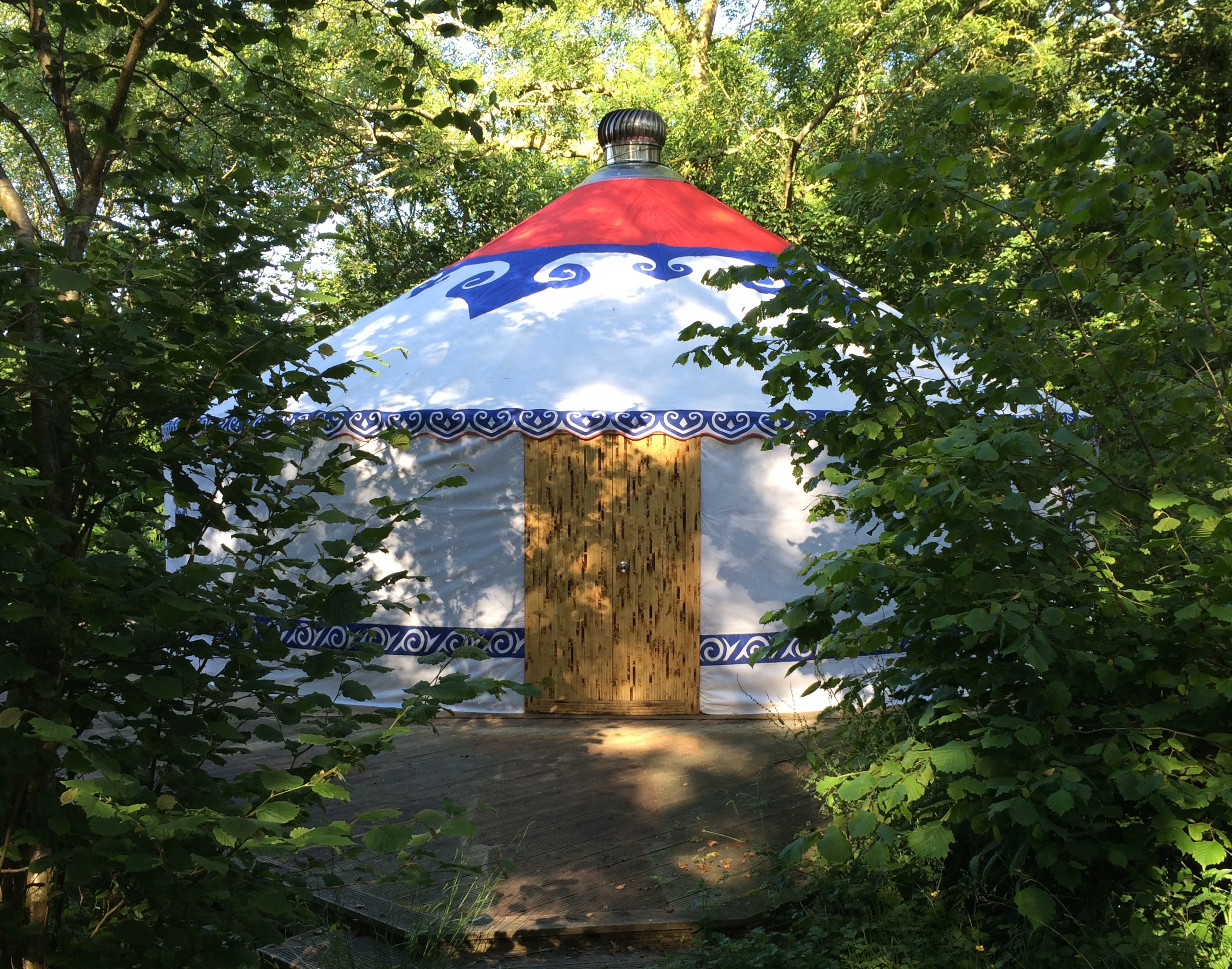 yurt outside
